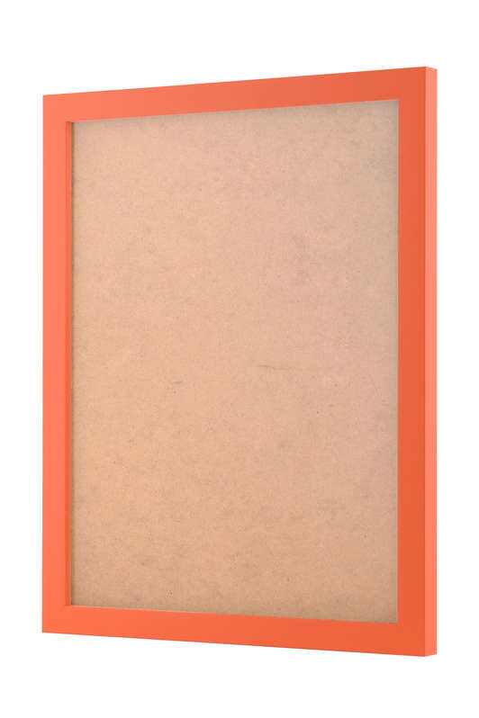 Orange picture frame