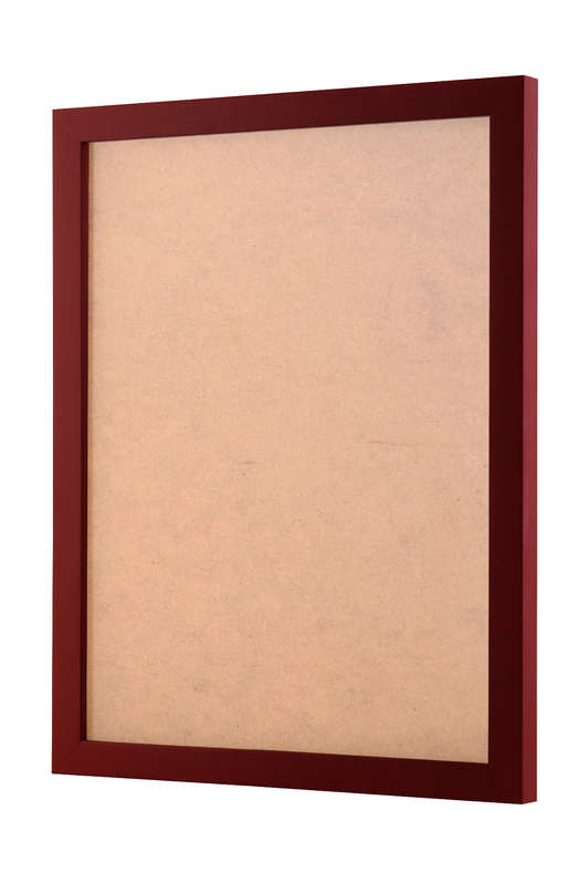 Maroon picture frame