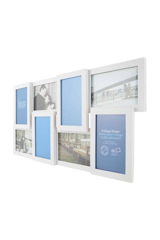 White Multi Photo Frame, 8 photos, 6x4 (15x10cm)