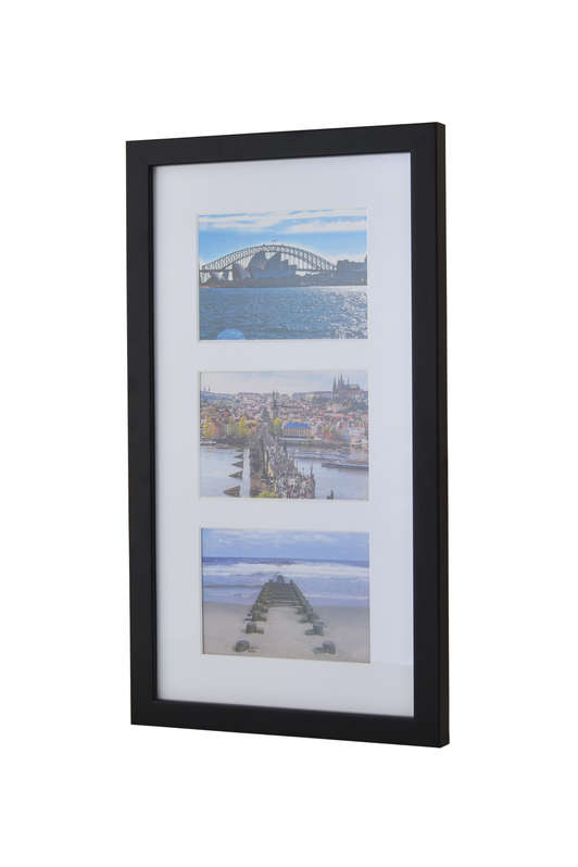 Picture frame for 3 postcards