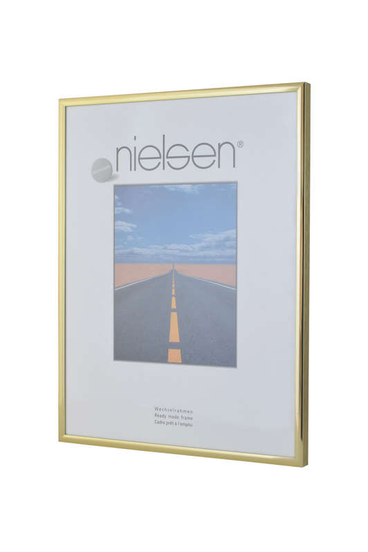 Nielsen Pearl Polished Gold Glass Glazed