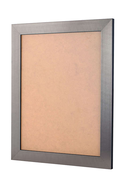 Scratched Silver picture frame 36mm