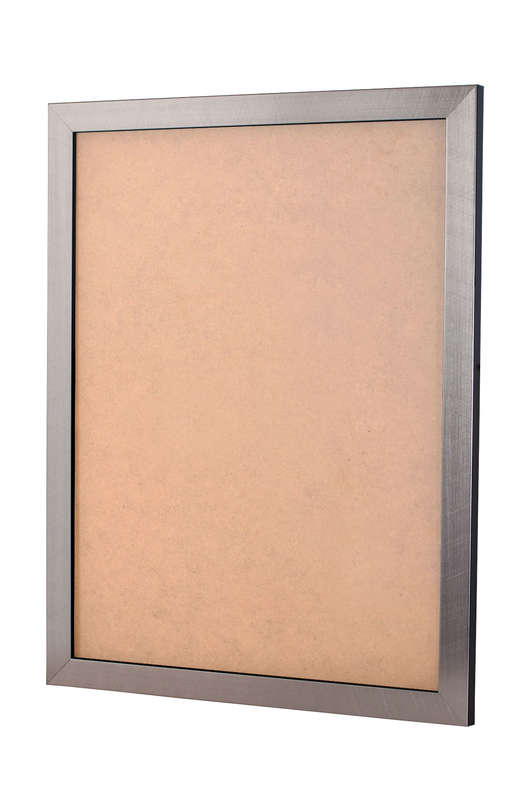 Scratched Silver picture frame