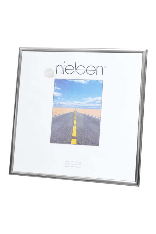 Nielsen Pearl Polished Silver Glass Glazed