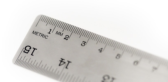 picture frame sizes - metric ruler