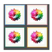 Custom size colourful frames