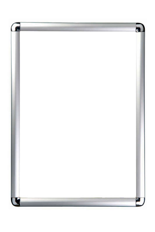 Snap Frame Silver with Rounded Corners 25mm