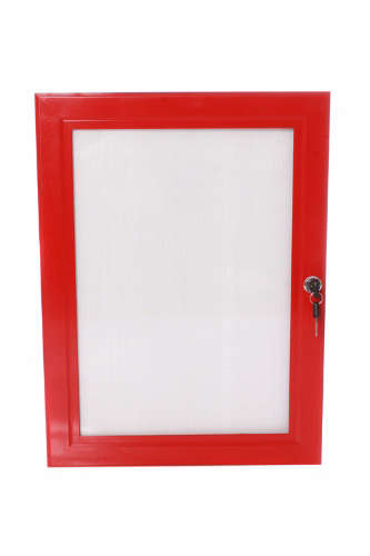 B4F Lockable Poster Case - Red