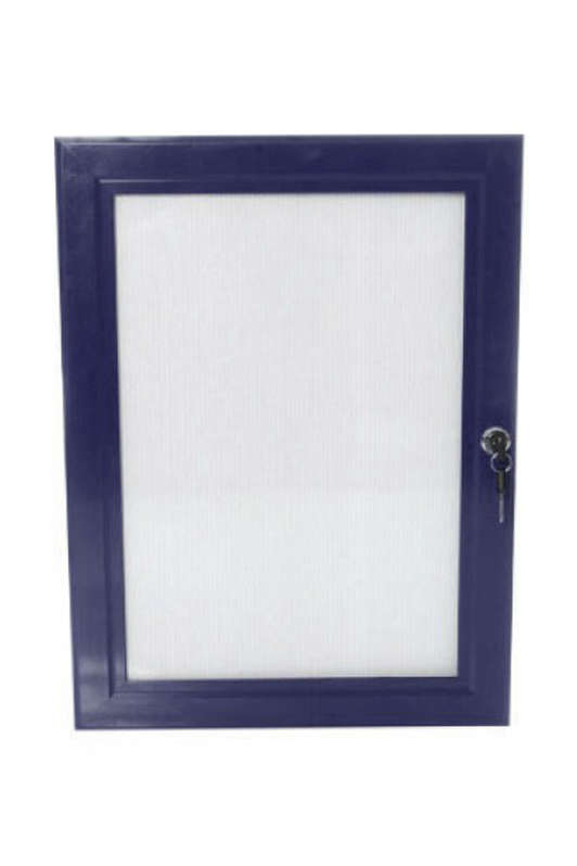 B4F Lockable Poster Case - Blue