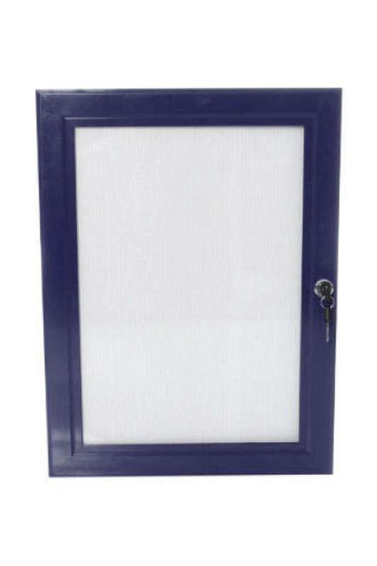 B4F Lockable Poster Case - Blue