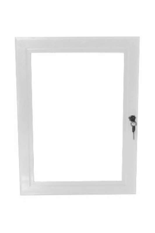 B4F Lockable Poster Case - White