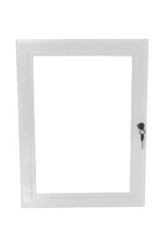 B4F Lockable Poster Case - White