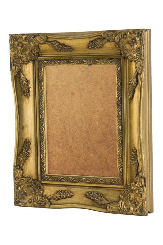 Swept Frame Gold Acrylic Glazed