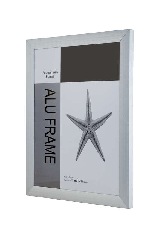 CLEARANCE Wide Brushed Silver Aluminium 30 x 40  (pack of 6)